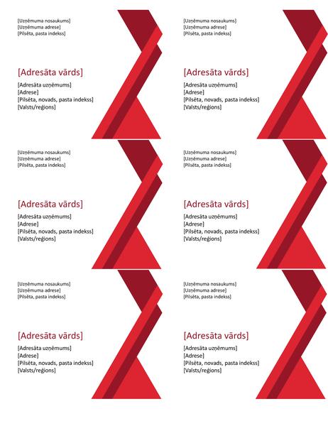 Uzlīmes ar izteiksmīgiem stūriem (6gab. vienā lappusē)
