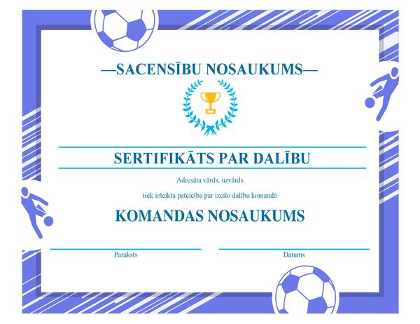 Četru sporta veidu godalgu sertifikāts