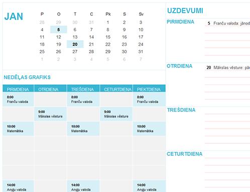 Skolēna/studenta kalendārs