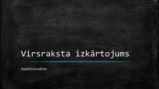 Izglītības jomas tāfeles prezentācija (platekrāna)