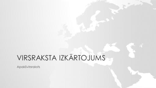 Pasaules kartes sērija, Eiropas prezentācija (platekrāna)