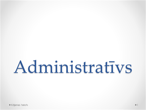 Administratīvs