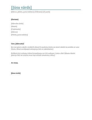 CV motivācijas vēstule