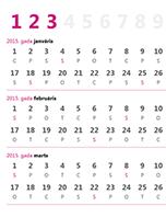 2015.gada ceturkšņu kalendārs