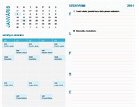 Studenta nedēļas plāna kalendārs (jebkurš gads, no pirmdienas līdz svētdienai)