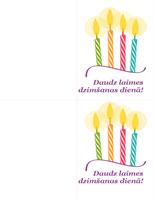 Dzimšanas dienas kartītes