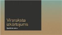 Prezentācija ar zilganbrūnu gradientu (platekrāna)