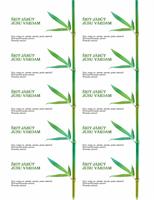 Vizītkartes (bambusa zars)