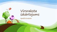 Prezentācija ar zīmētas dabas ainavas noformējumu (platekrāna)