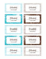 Jaungada svinību vietas kartītes (Avery 5371 papīram)