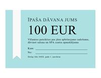 Dāvanu sertifikāta apbalvojums (zelta lente)