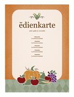 Ēdienkarte (ražas noformējums)