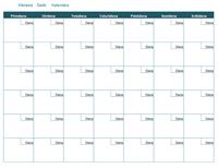 Tukšs mēneša kalendārs