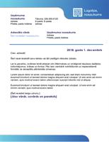 Biznesa vēstule (zila apmale un krāsu gradients)