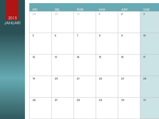 Kalendar sebarang tahun