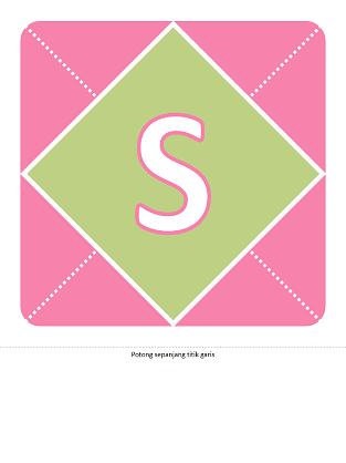 Kain rentang Selamat Datang Bayi Perempuan (merah jambu, ungu, hijau)
