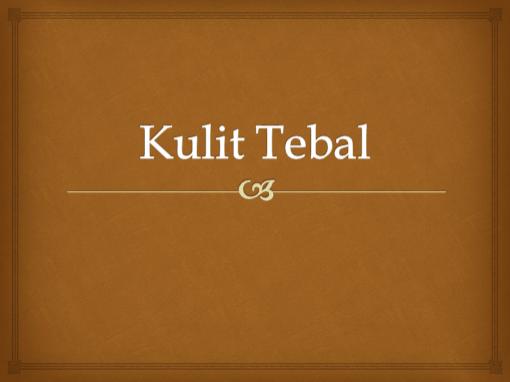 Kulit Tebal