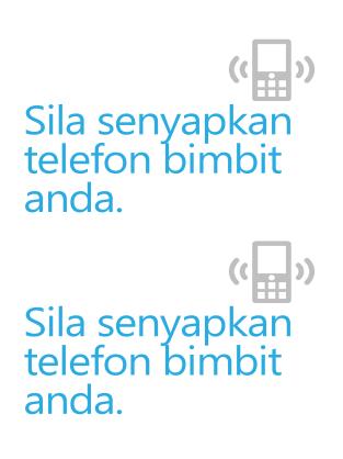Poster peringatan mematikan telefon bimbit