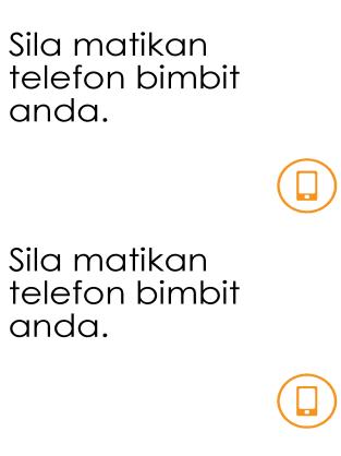 Peringatan mematikan telefon bimbit