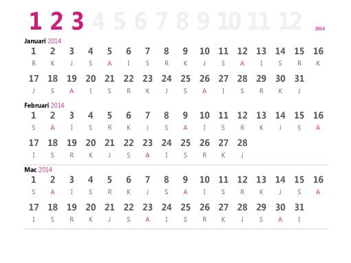 Kalendar suku tahunan 2015
