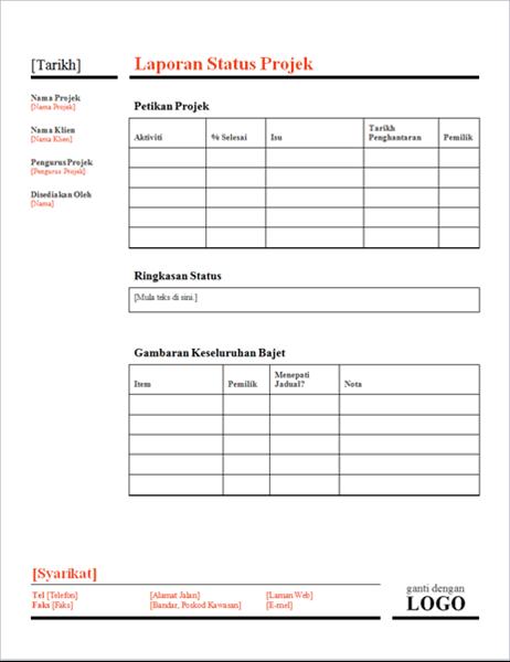 Status projek (merah)