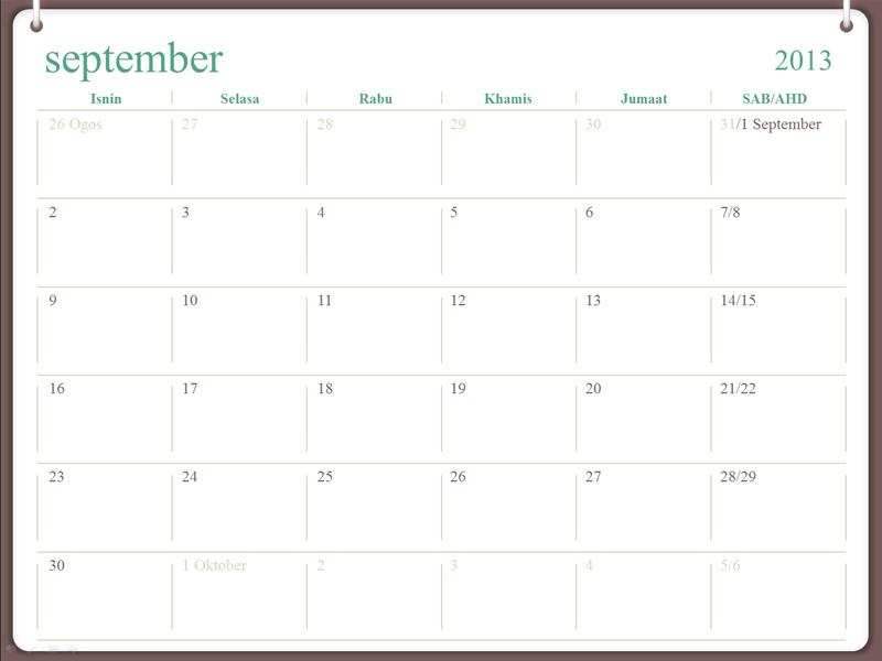 Kalendar akademik 2013-2014 (Julai)
