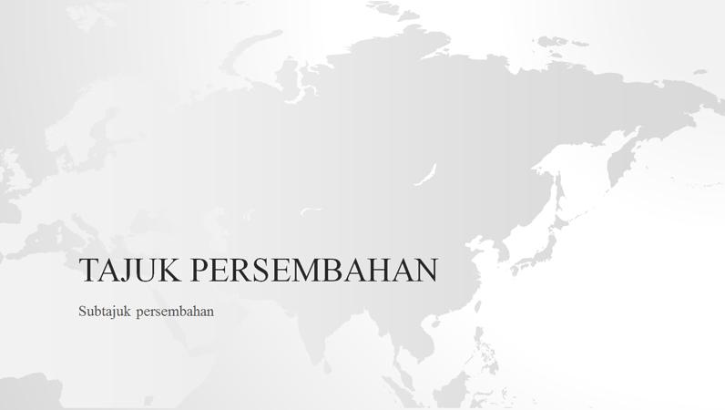 Siri peta dunia, persembahan benua Asia (skrin lebar)