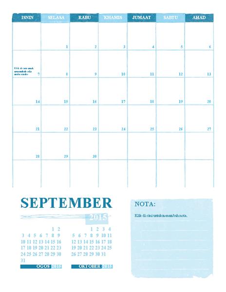 Kalendar Akademik I-A (sebarang tahun)