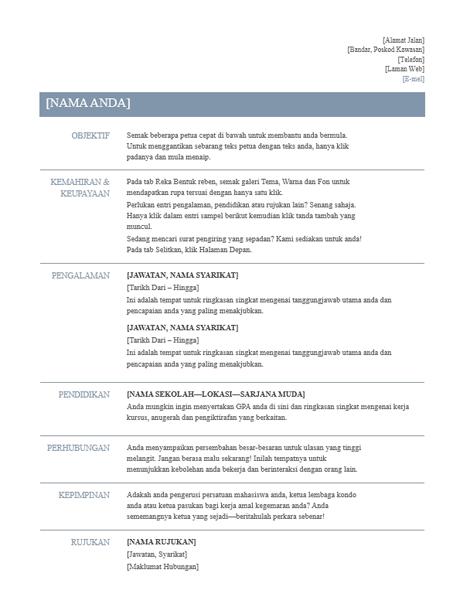 Resume (Reka bentuk Kekal)