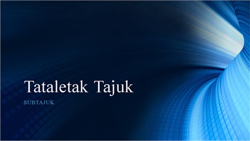 Persembahan terowong biru digital (skrin lebar)