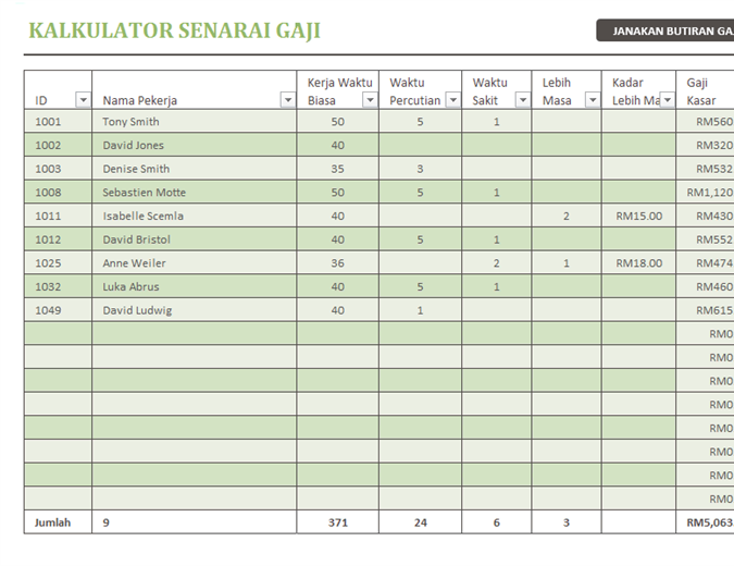 Kalkulator senarai gaji