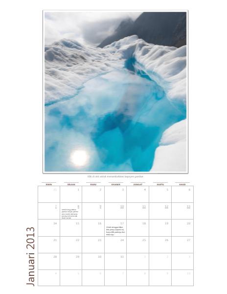 Kalendar foto Bulanan 2013 (I-A)