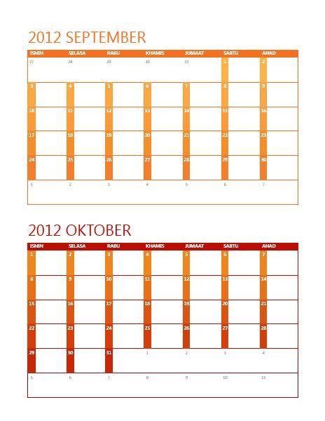Kalendar akademik (I-A)