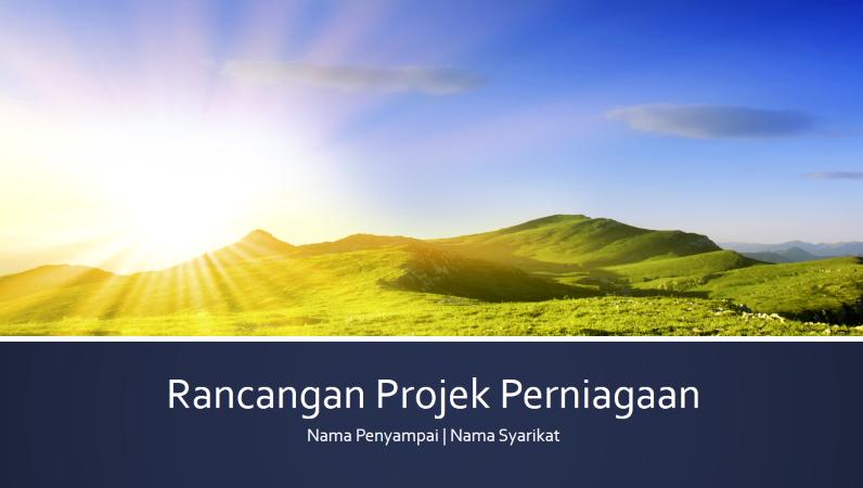 Persembahan rancangan projek perniagaan (skrin lebar)
