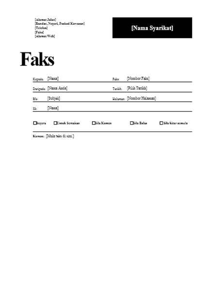 Halaman Depan Faks