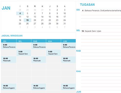 Kalendar Pelajar (Isn)