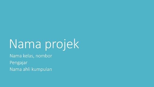 Persembahan projek kumpulan (Tema metropolitan, skrin lebar)