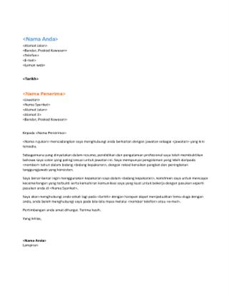 Surat pengiring resume fungsian (padanan resume fungsian)
