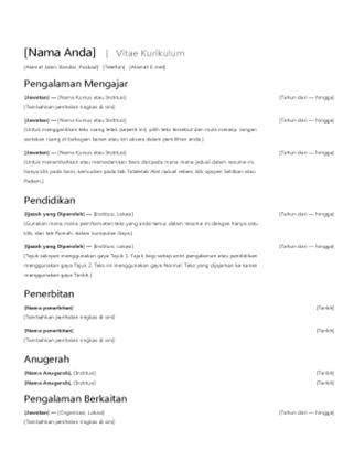 Vitae kurikulum (resume)