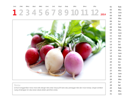 Kalendar foto tahun 2015