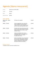 Agenda mesyuarat perniagaan (Reka bentuk jingga)