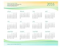 Kalendar perniagaan kecil (sebarang tahun)