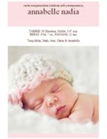 Pengumuman Bayi Perempuan Baru