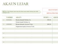 Lejar T-account