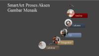 SmartArt Proses Aksen Gambar Menaik (berbilang warna pada kelabu), skrin lebar