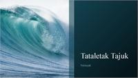 Persembahan reka bentuk ombak lautan (skrin lebar)