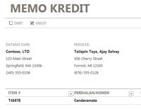 Memo kredit/debit