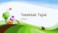 Persembahan alam semula jadi berwarna-warni, reka bentuk landskap berilustrasi (skrin lebar)
