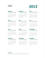 Kalendar 2013 lihat sepintas lalu (Format I-A)
