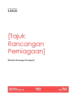 Rancangan perniagaan (Reka bentuk merah)